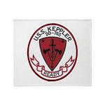 USS KEPPLER Throw Blanket