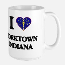 I love Yorktown Indiana Mugs