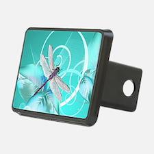 Cute Dragonfly Aqua Abstra Hitch Cover