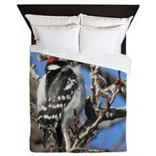 Downy Woodpecker Queen Duvet