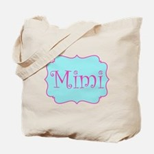 Mimi in Hot Pink and Blue Tote Bag