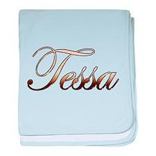 Gold Tessa baby blanket
