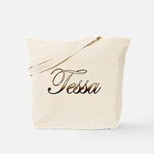 Gold Tessa Tote Bag