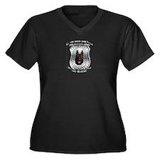 He's a MWD Women's Plus Size V-Neck Dark T-Shirt