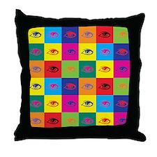 Pop Art Eye Throw Pillow