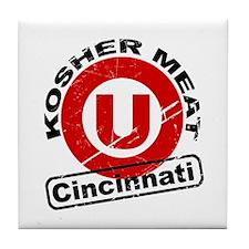 Kosher Meat U - Cincinnati Tile Coaster