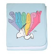 Snoopy Rainbow baby blanket