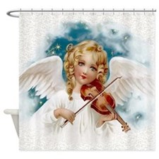 Heavenly Angel & Violin Shower Curtain
