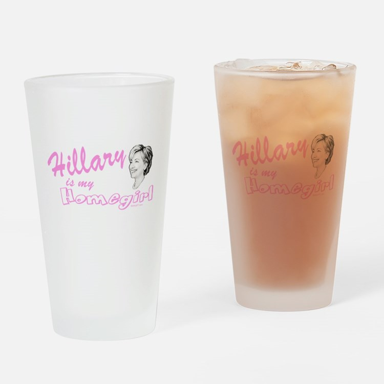 Hillary Homegirl drk Drinking Glass