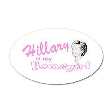 Hillary Homegirl drk Wall Decal