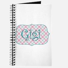 Sassy Gigi Blue Plaid Journal