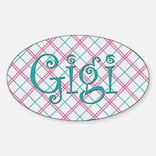 Sassy Gigi Blue Plaid Decal