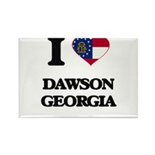 I love Dawson Georgia Magnets