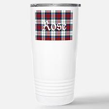 Tartan-Rose dress Travel Mug