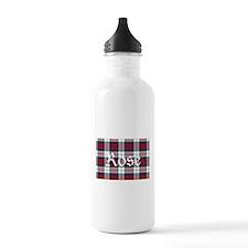 Tartan-Rose dress Water Bottle