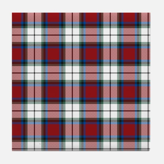 Tartan-Rose dress Tile Coaster