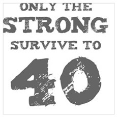 Strong 40th Birthday Poster