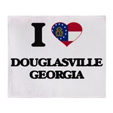 I love Douglasville Georgia Throw Blanket