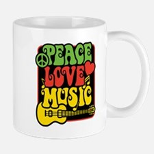 Rasta Peace Love Music Mugs