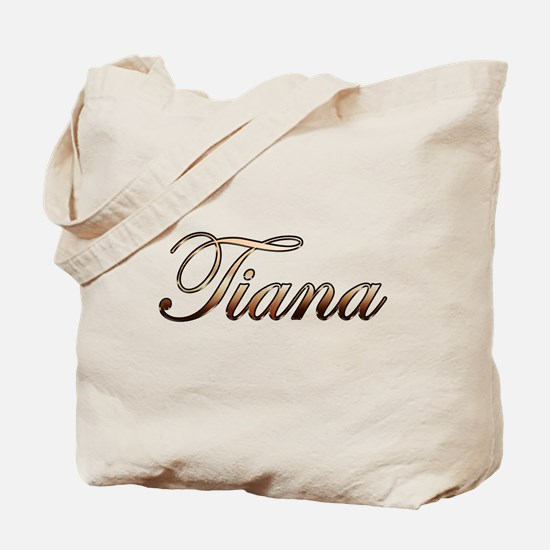 Gold Tiana Tote Bag