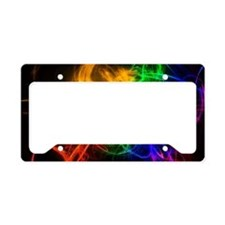 crazy rainbow License Plate Holder
