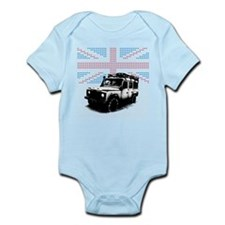 Cute Flags british Infant Bodysuit