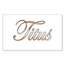 Gold Titus Decal