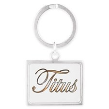 Gold Titus Keychains