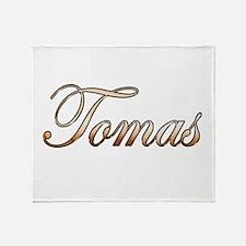 Gold Tomas Throw Blanket