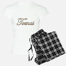 Gold Tomas Pajamas