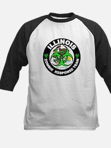 Illinois Zombie Response Tea Green Baseball Jersey