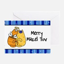 Merry Mazel Tov kitties Greeting Cards (Pk of 20)