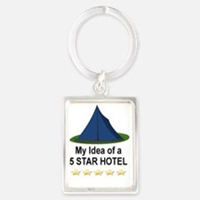 CAMPING - MY IDEA OF A 5 STAR HO Portrait Keychain
