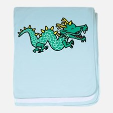 Happy Dragon baby blanket