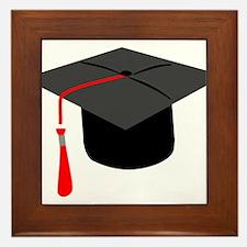 Graduation Cap Framed Tile