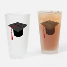 Graduation Cap Drinking Glass