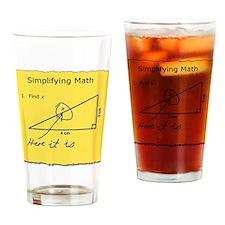 Simplifying Math Drinking Glass