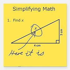"Simplifying Math Square Car Magnet 3"" x 3"""