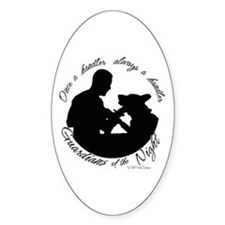 Once a Handler Oval Decal
