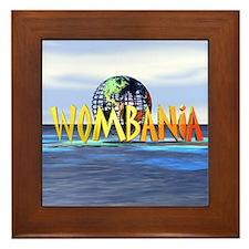 Wombania World Logo Framed Tile