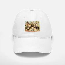 Dog Group From Antique Art Baseball Baseball Cap