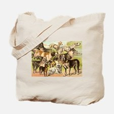 Dog Group From Antique Art Tote Bag