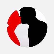 "Kissing Couple 3.5"" Button (100 pack)"