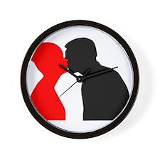 Kissing Couple Wall Clock