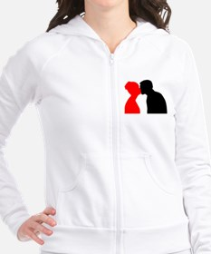 Kissing Couple Fitted Hoodie