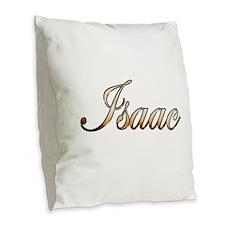 Gold Isaac Burlap Throw Pillow
