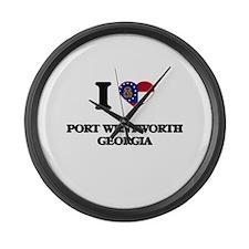 I love Port Wentworth Georgia Large Wall Clock