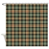 Brown plaid Shower Curtains