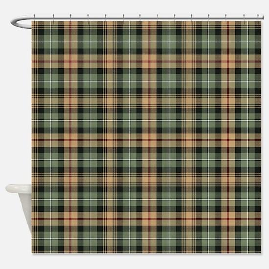 Tartan-MacKenzie htg brn Shower Curtain