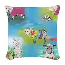 Wool Sweater 2 Woven Throw Pillow
